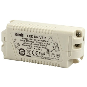 600mA LED Driver 18W 100-240V AC 50 / 60Hz