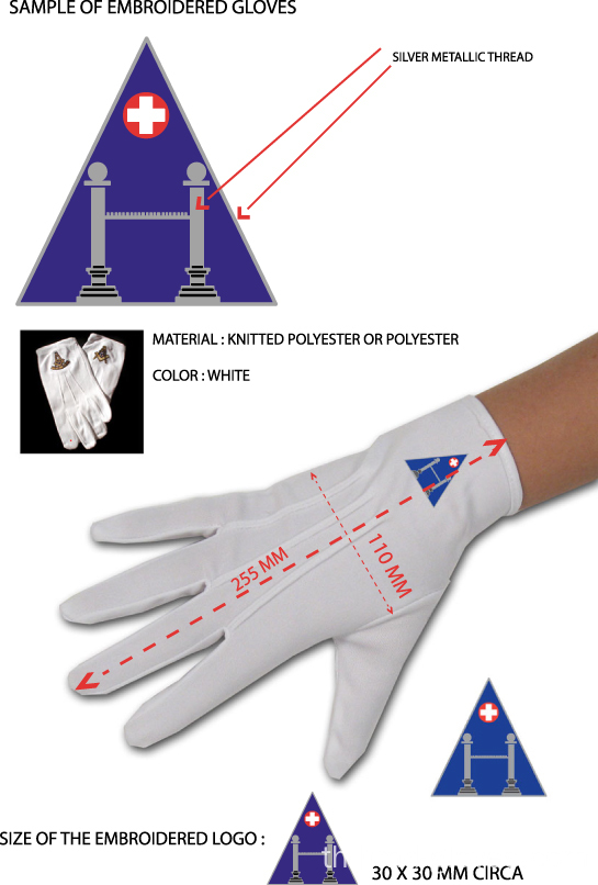 Masonic Dress Gloves กับ WM Square