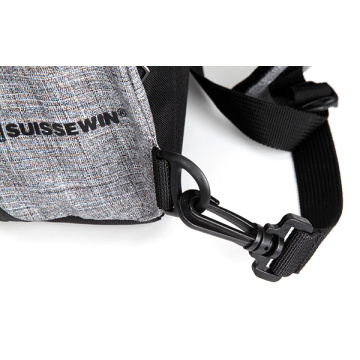 Suissewin Black Sport Outdoor Messsenger Shoulder Backpack
