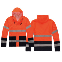 New Delivery for Waterproof Safety Vest,Waterproof Workwear,Reflective Waterproof Jacket Manufacturer in China Hi-vis rain coat with reflective tape export to Angola Supplier