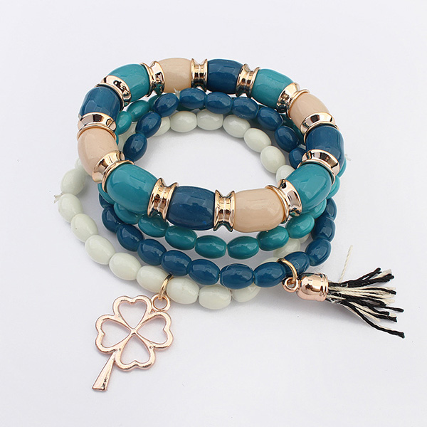 Multi Layer Beads Tassels Bracelets For Wome