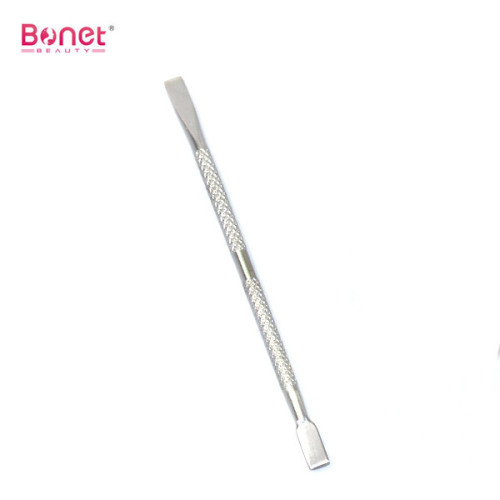 Stainless steel double end cuticle nail pusher