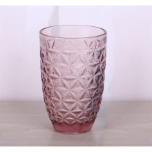 Handmade Crystal Glass Tumbler In Pink Color