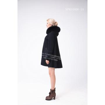 Women Winter Australia Merino Shearling Hooded Jcket