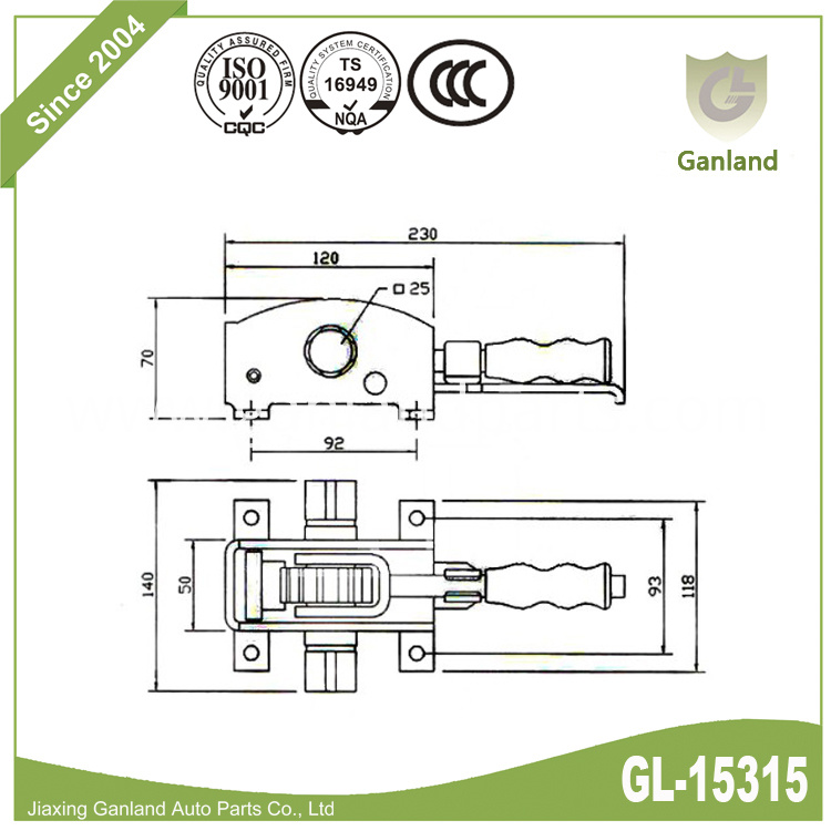 Curtain side Strapping Tensioner gl-15315