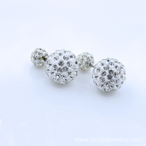 Multi Colors Double-faced Shamballa Jewels Earring For Women