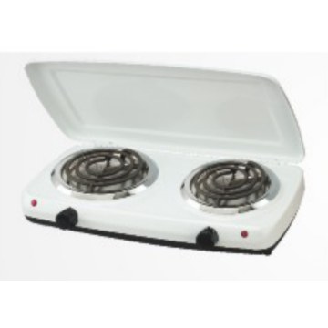 2 Solid Electric Cooking Hot Plate with Cover