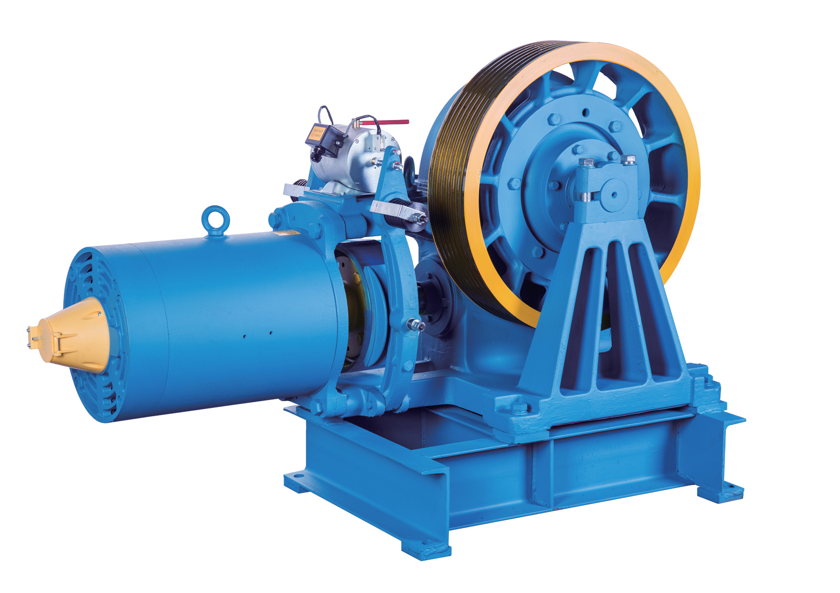 Geared Elevator Traction Machine