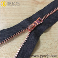 Hot sale fashion rose gold metal zipper