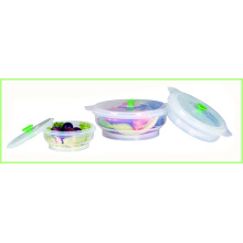 Set Of 3 Silicone Folding Lunch Bowl