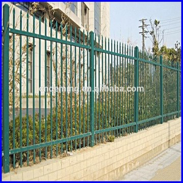 security tubular steel spear top black fence panels