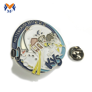 Hot sale lovely cartoon car enamel badge