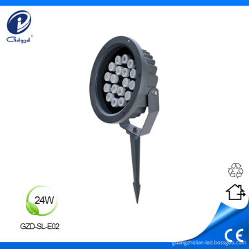 24W architectural IP65 lawn stake flood light led