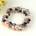 Crystal Pearl Stretch Bracelets Shiny Beads Bracelet