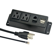 US Dual Power Outlets With Phone&USB Ports
