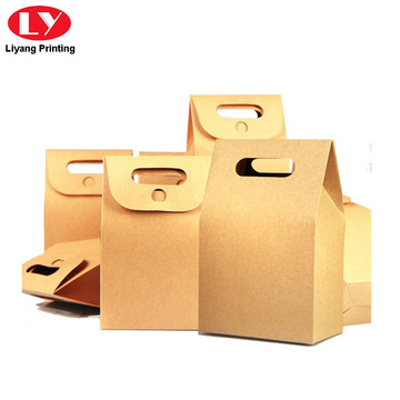 Kraft Paper Tea Box with Die Cut Handle
