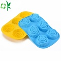 Silicone 6 cavity flower soap mold