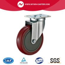 Plate Swivel PU Industrial Caster Medium Duty Wheels