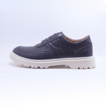 Rubber Outsole Men Lace Loop Shoes