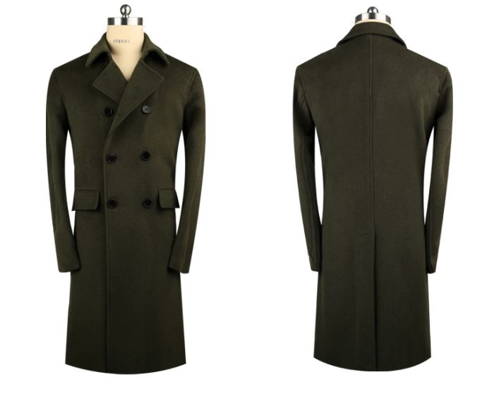 Men's 70% Wool 30% Cashmere Coat -7
