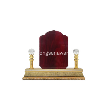 stock luxury Natural wooden trophy