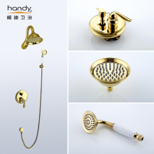 China for Antique Bronze Bathroom Faucet Gold Color Antique Bathroom Faucet export to Germany Manufacturer