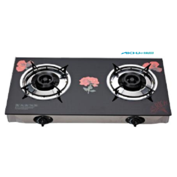 Tempered Glass Two Burners Gas Stove