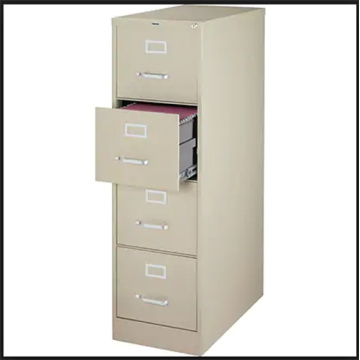 Anti-Tilt Structure Office Metal 4 Drawer File Cabinet