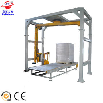 Arm rotating pallet wrapper with CE