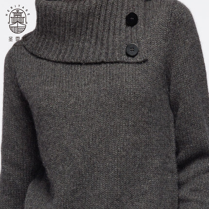 Womens turn-down collar cashmere sweater