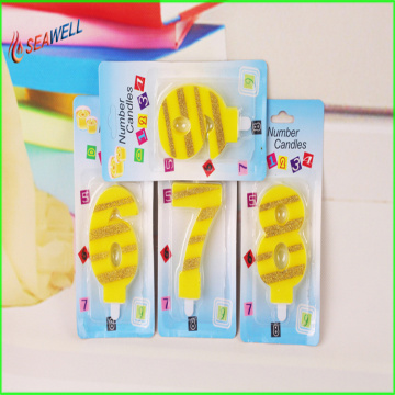 Private Label Paraffin wax Birthday Number Candle