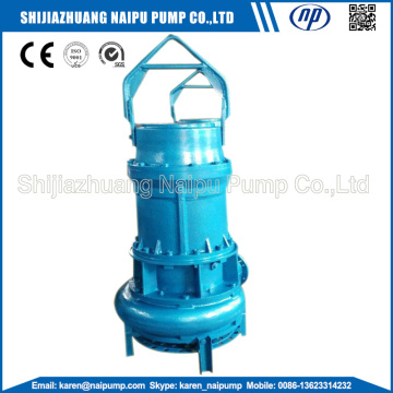 Submersible slurry pumps with agitator