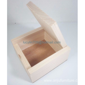 Small Wood Jewelry Box Pure Wood Color Handcraft Collectibles Gift