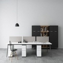 Melamine Modern Office Desk For Staff Office Desks