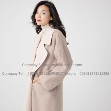 Reversible Cashmere Coat Of Pager Suri Alpaca Lady