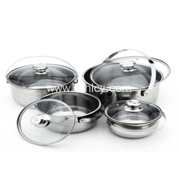 4-Piece Stainless Steel Cookware Kitchen Set