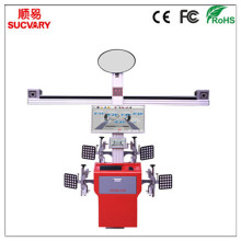 3D Wheel Aligner with Adjustable Camera