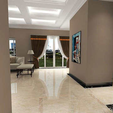 Decor marble flooring vs carrara wall tiles