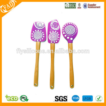 Customized for Best Silicone Spatula Set, Heat Resistant Silicone Spoon Spatula Manufacturer in China wholesale best quality silicone spatula with wooden handle export to Togo Exporter
