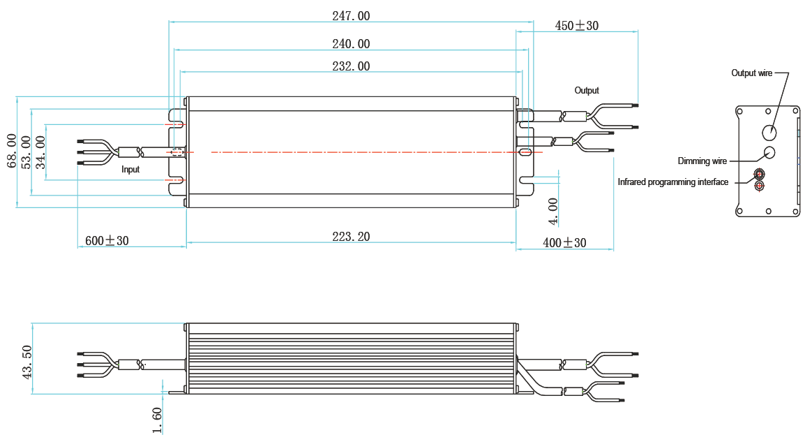 Ldp 240w Mechanical Drawing
