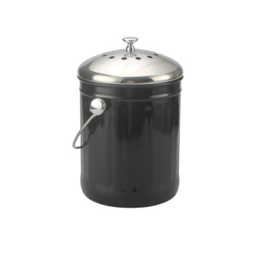 Black Compost Bin 1 Gallon Kitchen Tools ForStoraging