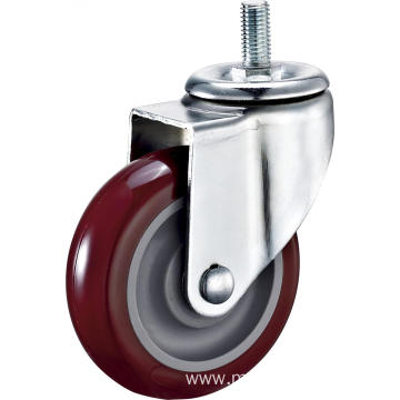 4'' Thread Stem Industrial PU Caster With PP Core
