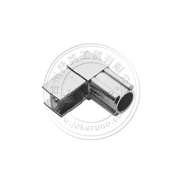 Square chrome tube fittings