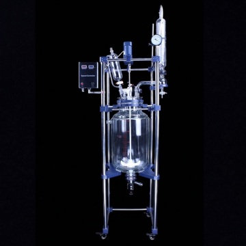 Lab vacuum jacketed double glass reactor