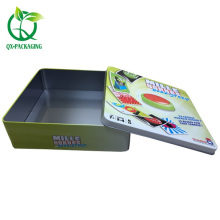 Square tins with lids for sales