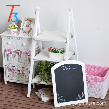 wooden chalkboard easel decoration wood flower stand