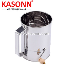 100% Original for Baking Sifter,Flour Sifters,Stainless Steel Sifter Manufacturers and Suppliers in China 5 Cup Rotary Crank Sugar Baking Flour Sifter export to United Arab Emirates Exporter