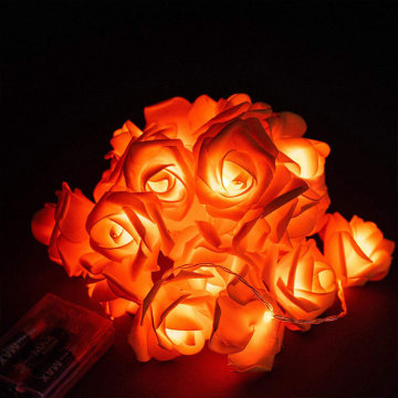 Luci a LED del villaggio natalizio di Battery Rose Flower
