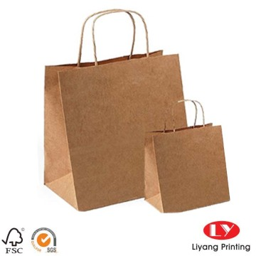 Recycled strong brown kraft paper bag
