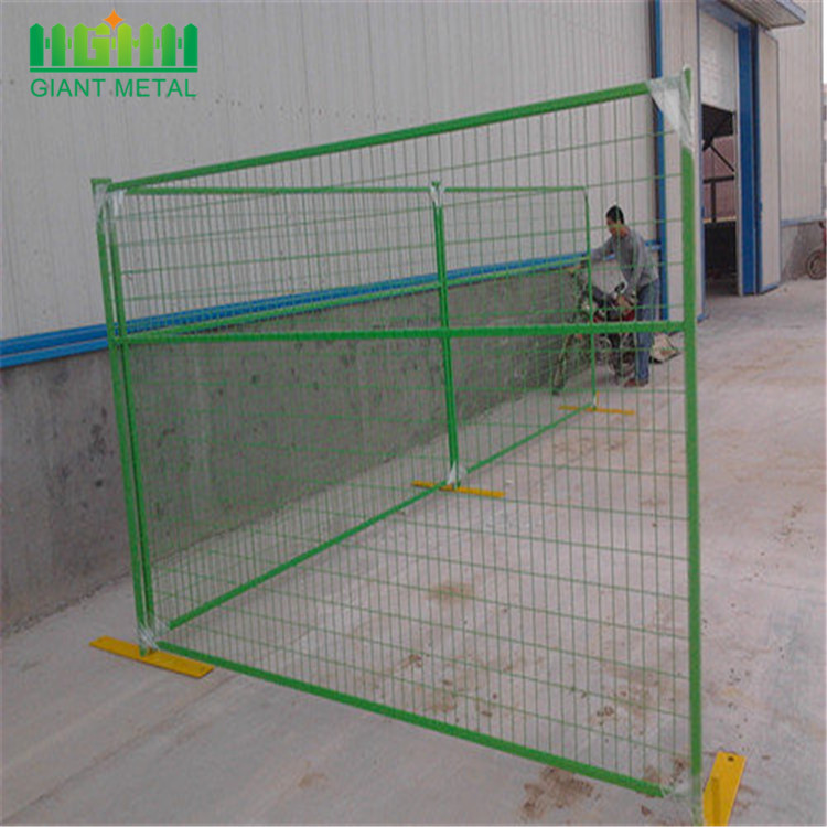 Powder coated colorful welded temporary fence